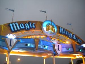 The Magic Kingdom sign at day break