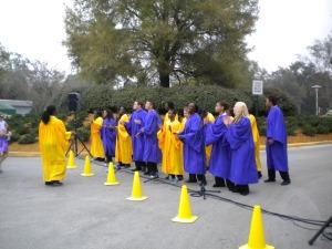 Gospel Choir!  Yes, they were singing Gospel songs.