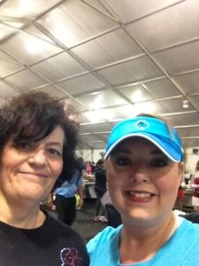 I found Liz as soon as I walked into the Race Retreat!
