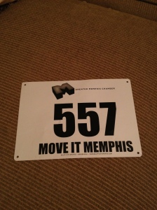My very first race bib!