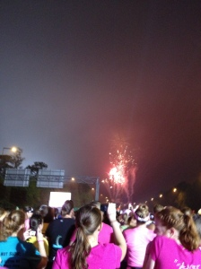 My pic of the fireworks at the start.  I never claimed to be a good photographer.