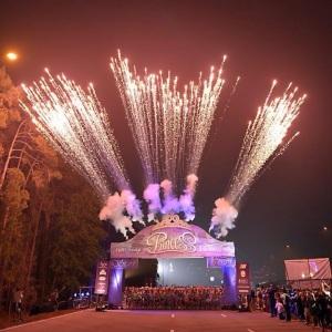 runDisney's pic of the fireworks, courtesy of runDisney