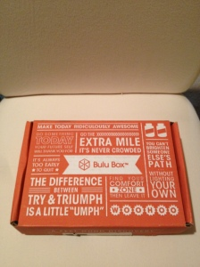 This is exactly how the Bulu Box arrives.  The shipping label is on the bottom.