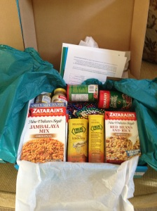 Contents of Zatarain's boxes