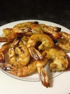 Grilled Drunken Barbeque Shrimp