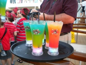 Pirate Night Cocktails, with and without alcohol