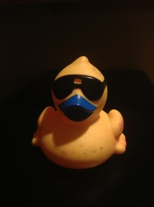 My ducky got a little scarred and bruised.