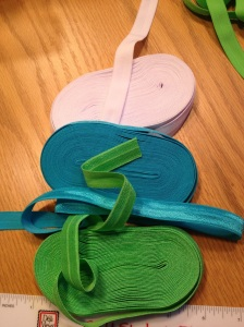 Fold Over Elastic--it comes in all different colors!