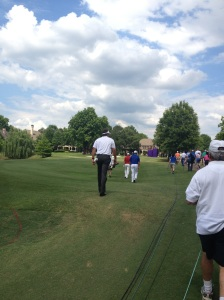 Almost everyone was following Phil Mickelson.