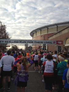The start of the 2012 Memphis St. Jude Half Marathon