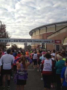 The start of the 2012 Memphis St. Jude Half Marathon