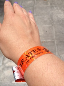 Wristband for Pirates of Nassau Museum