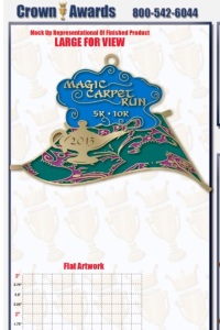 Magic Carpet Run Medal