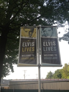 Banners outside of Graceland