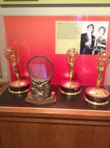 These Emmys belonging to Danny Thomas are on display in the St. Jude Pavilion.