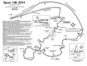 Course map for 2014 10k