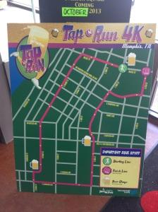Tap N Run 4k Course Map