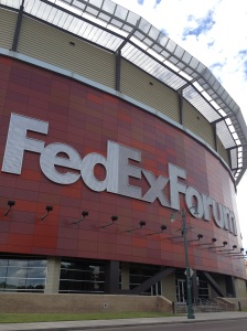 Fed Ex Forum, home of the Memphis Grizzlies NBA team