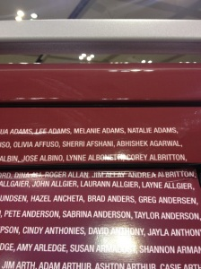 My name was on the official St. Jude Pace Car.