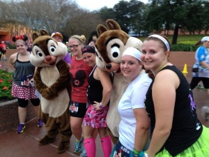 Chip and Dale at the Minnie 10k