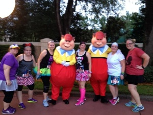 Tweedle Dee and Tweedle Dum at the Minnie 10k