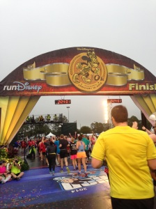 The finish line at the Minnie 10k