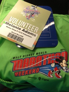 Marathon Volunteer Jacket and Credential
