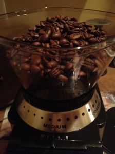 Coffee Beans ready to grind for my morning coffee