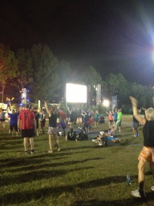 I can't believe people were actually dancing before a half marathon.