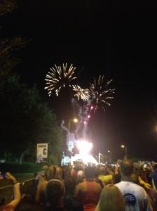Each corral got their own fireworks start.