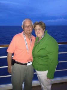 Dad and Mom on the Disney Dream last year