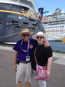 Dad and Mom in the Bahamas last year