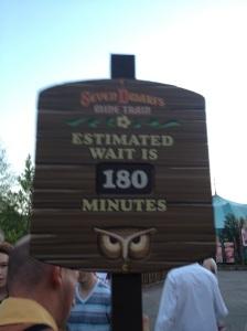 Nope!  We didn't wait 3 hours!