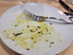 What was left of the salmon