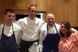 Me with the chefs