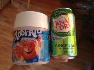 This plus ice is all you need for a quick, frozen slushie drink.