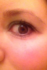 After I applied the Rimmel London Retro Glam mascara