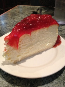 Strawberry cheesecake from Lindy's