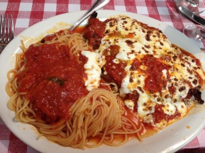 Chicken Parm from La Mela in Little Italy