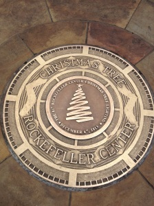 Rockefeller Center Christmas tree marker