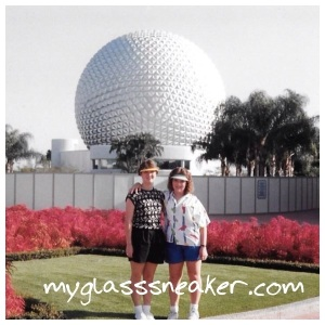 My sister and I at Epcot Center in 1987