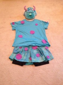 I'll be Sulley at the Mickey's Not So Scary Halloween Party.
