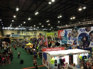 The expo was practically empty when I got there Saturday morning.