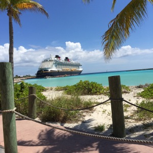 Disney Fantasy docked at Castaway Cay