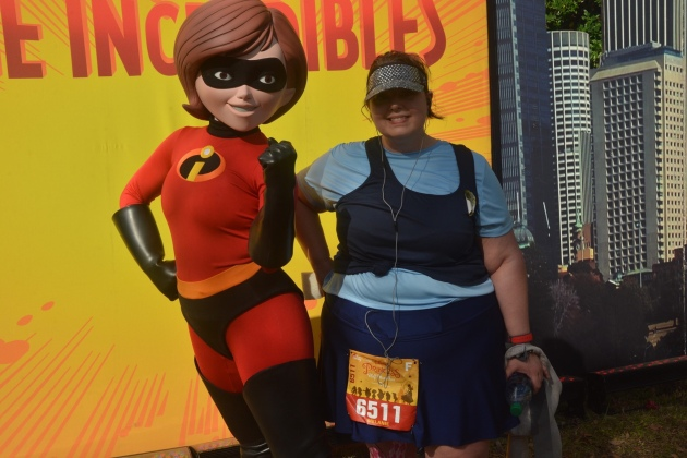 The Incredibles photo stop at Disney Princess Half Marathon Weekend